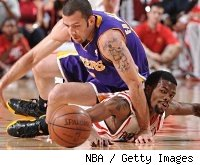 Aaron Brooks and Jordan Farmar