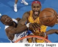 LeBron James and Mickael Pietrus