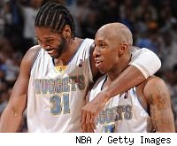 Nene and Chauncey Billups