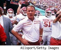 Barry Switzer at Oklahoma, 1988
