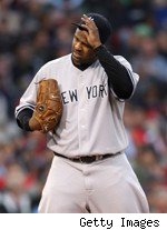 CC Sabathia Yankees Injured Biceps Tightness