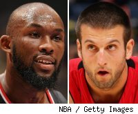 Reggie Evans and Jason Kapono