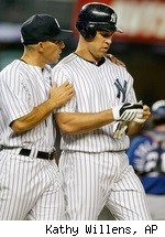 Mark Teixeira Joe Girardi Yankees