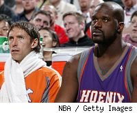Steve Nash and Shaquille O'Neal