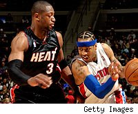 Dwyane Wade and Allen Iverson