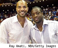 Carlos Boozer and Dwyane Wade