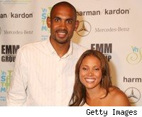Grant Hill, with wife Tamia Hill.