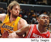 Pau Gasol and Ron Artest