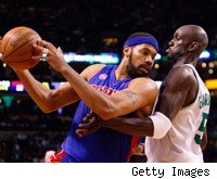 Rasheed Wallace and Kevin Garnett