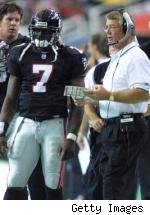 Michael Vick and Dan Reeves