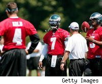 Does the addition of Michael Vick leave the Eagles with too many quarterbacks?