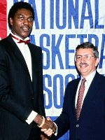 Hakeem Olajuwon and David Stern in 1984