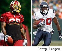 Clinton Portis Steve Slaton fantasy football running back rankings