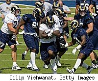 Steven Jackson St. Louis Rams camp physical intense