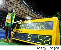 Usain Bolt 9.58 seconds video