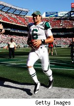Mark Sanchez is playing like a kid and having a ball so far with the Jets.