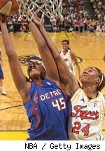 Kara Braxton and Tamika Catchings