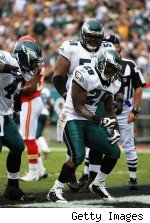 LeSean McCoy celebrates