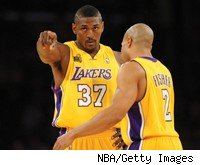 Ron Artest and Derek Fisher