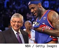 David Stern and LeBron James