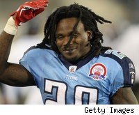 Titans RB Chris Johnson is so fast, it's amazing anybody could snap this picture of him.