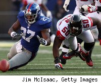 Something just seems wrong with Brandon Jacobs and the Giants this year.
