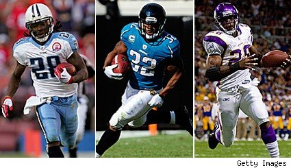Chris Johnson Maurice Jones-Drew Adrian Peterson