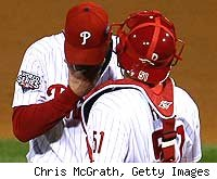 Brad Lidge and Carlos Ruiz