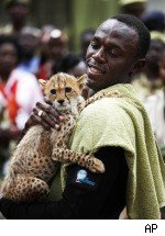 Usain Bolt Adopts Cheetah
