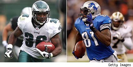 Brian Westbrook / Calvin Johnson
