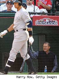 Scott Boras watches client Alex Rodriguez