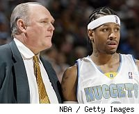 George Karl and Allen Iverson