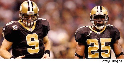 Dree Brees and Reggie Bush