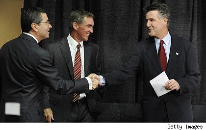 Dan Snyder, Mike Shanahan and Bruce Allen