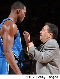 Dwight Howard and Stan Van Gundy