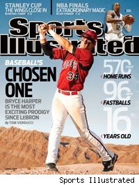 Bryce Harper on Sports Illustrated cover