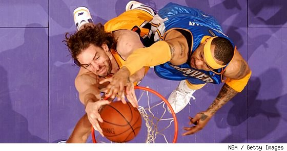 Pau Gasol and Kenyon Martin