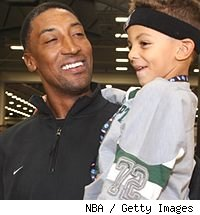 Scottie Pippen and his son