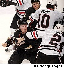 ... day after he forced Chicago Blackhawks defenseman Brent Seabrook out of ...