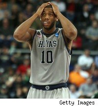 Georgetown's Greg Monroe couldn't believe his team lost to Ohio in the first round of the NCAA Tournament. Was it his last college game?