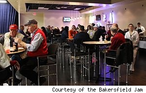 Fans enjoy a pre-game dinner at a recent Bakersfield Jam game
