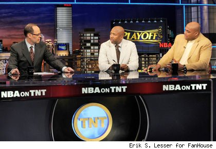Ernie Johnson, Kenny Smith and Charles Barkley
