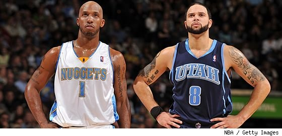 Chauncey Billups and Deron Williams
