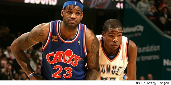 kevin durant lebron. LeBron James and Kevin Durant