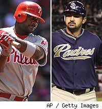 Ryan Howard and Adrian Gonzalez