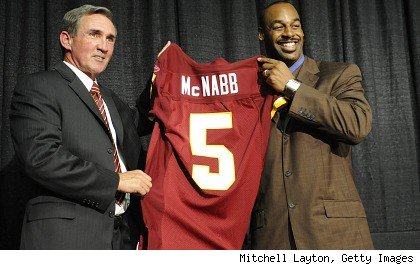 Mike Shanahan and Donovan McNabb