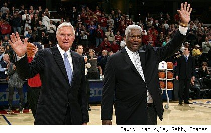 Jerry West and Oscar Robertson