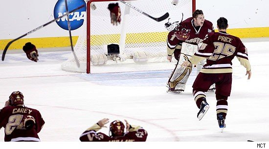 Boston College Stifles Wisconsin to Win NCAA HOCKEY Championship
