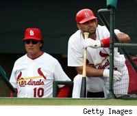 Tony La Russa and Albert Pujols