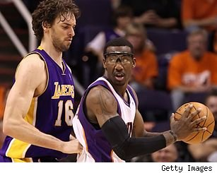 Pau Gasol and Amar'e Stoudemire